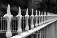 Rod Iron Fence Foto de Stock Royalty Free
