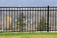 Rod Iron Fence Royalty-vrije Stock Afbeeldingen