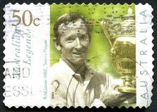 Rod Laver Australian Postage Stamp fotografia de stock royalty free