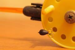 Rod para la pesca del invierno con mormyshkae Fotografía de archivo
