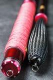 Rod per il herabuna con la treccia differente delle maniglie fotografia stock