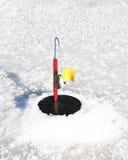 Rod pour la pêche d'hiver Photographie stock