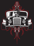Rod quente Carro retro pinstripes Vetor fotografia de stock royalty free
