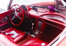Rod Red Corvette Sting Ray caliente fotografía de archivo libre de regalías