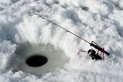 Rod and Reel Ice Fishing Stock Photos