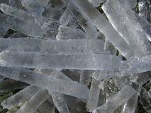 Rod-Shaped Ice Formation Background Texture Stock Image