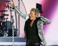 Rod Stewart. WANTAGH, NY-JUL 18: Singer Rod Stewart performs in concert at Jones Beach Theater on July 18, 2017 in Wantagh, New York stock photography