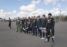 Rod team of Podolsk city royalty free stock photo