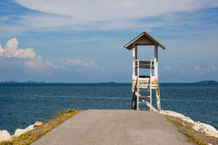 Rod to the sea and observatory. Laem Ya Pier at Kao Laem Ya-Moo Koh Samed National Park ,Thailand Stock Photos