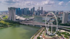 Roda aérea de Singapura Timelapse Ferris video estoque
