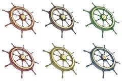 Roda ajustada do navio Imagens de Stock Royalty Free