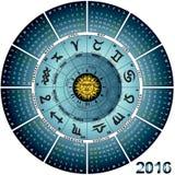 Roda 2016 astral ilustração royalty free