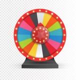 Roda colorida da sorte ou da fortuna infographic Vetor Imagens de Stock Royalty Free
