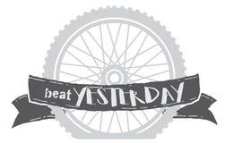 Roda da bicicleta de ontem da batida ilustração royalty free