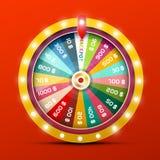 Roda da fortuna com vitória do jackpot ilustração do vetor