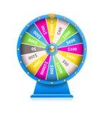 Roda da fortuna da máquina de jogo automática da sorte ilustração royalty free