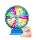 Roda da fortuna da máquina de jogo automática da sorte ilustração stock