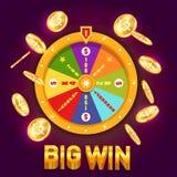 Roda da fortuna ou roda de giro para o casino ilustração royalty free