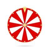 Roda da fortuna realística isolada no fundo branco Conceito de jogo da roda da roleta e da fortuna ilustração do vetor