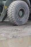 Roda da máquina escavadora Imagem de Stock