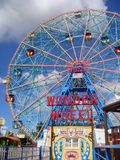 Roda da maravilha, Coney Island, Brooklyn NY fotos de stock