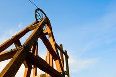 Roda da mineração fotografia de stock