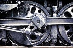 Roda da movimentação Grunge de motor locomotivo de vapor do vintage Fotografia de Stock Royalty Free