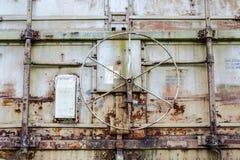 Roda da porta de carro do trem Fotografia de Stock