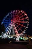 Roda da roda de Brisbane Ferris no ` s Southbank de Brisbane Foto de Stock