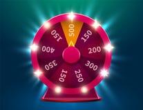 Roda da sorte ou da fortuna Lazer da possibilidade do jogo Roda de jogo colorida Fundo premiado do conceito do jackpot ilustração do vetor