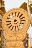Roda da textura de Dharma ou roda da vida, símbolo do budismo Fotos de Stock