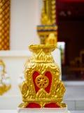 Roda da vida ou do Dharmachakra ou roda de Dhamma em Wat Chaiyamangalaram Penang Malaysia Fotos de Stock