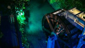 Roda de água colorida foto de stock
