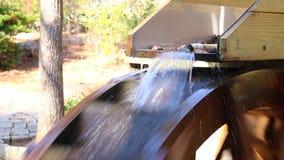 Roda de água do moinho da munição video estoque