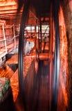 Roda de água velha da pensão Foto de Stock