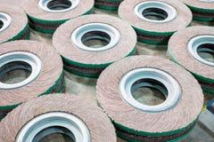 Roda de abrasivos Fotografia de Stock