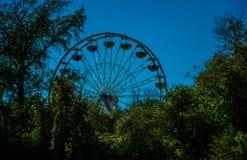 Roda de Austin Texas EUA Ferris no parque de Zilker Fotografia de Stock Royalty Free