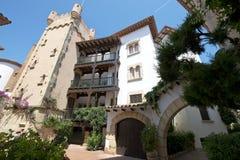 Roda de Bara, Tarragona, Spain. Roc de Sant Gaieta in Roda de Bara, Tarragona, Catalonia, Spain stock images