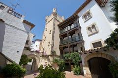 Roda de Bara, Tarragona, Spain. Roc de Sant Gaieta in Roda de Bara, Tarragona, Catalonia, Spain stock image