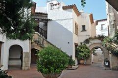 Roda de Bara, Tarragona, Spain. Roc de Sant Gaieta in Roda de Bara, Tarragona, Catalonia royalty free stock photos
