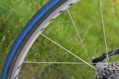 Roda de bicicleta foto de stock