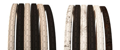 Roda de bicicleta com raios e o pneu fora de estrada ilustração 3D É Fotografia de Stock Royalty Free