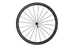 Roda de bicicleta da fibra do carbono imagens de stock