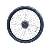 Roda de bicicleta do Mountain bike fotografia de stock