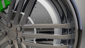 Roda de carro 3d Fotos de Stock