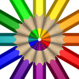 Roda de cor do lápis Imagem de Stock Royalty Free