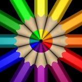 Roda de cor do lápis Imagem de Stock