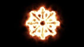 Roda de Dharma Lighting ascendente e do Burning nas chamas ilustração royalty free