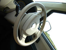 Roda de direcção de um carro Fotografia de Stock