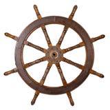 Roda de direcção do barco Foto de Stock